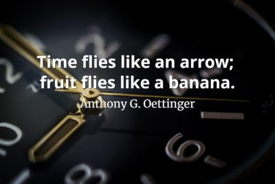 Anthony G. Oettinger Quote Time flies like an arrow - fruit flies like a banana
