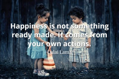 Dalai Lama Quote Happiness is not something ready made it comes from your own actions