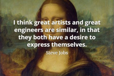 Steve Jobs Quote: I think great artists and great engineers are similar, in that they both have a desire to express themselves.