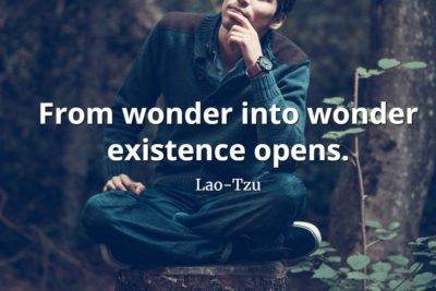 lao-tzu quote From wonder into wonder existence opens