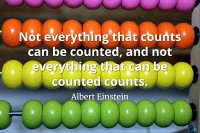 Albert Einstein quote Not everything that counts can be counted, and not everything that can be counted counts.