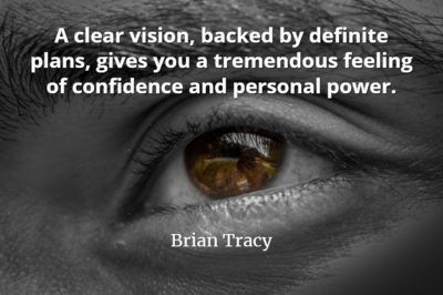Brian Tracy quote A clear vision, backed by definite plans, gives you a tremendous feeling of confidence and personal power