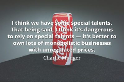Charlie Munger quote: I think we have some special talents. That being said, I think it's dangerous to rely on special talents