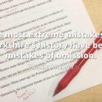 Charlie Munger quote The most extreme mistakes in Berkshire's history have been mistakes of omission