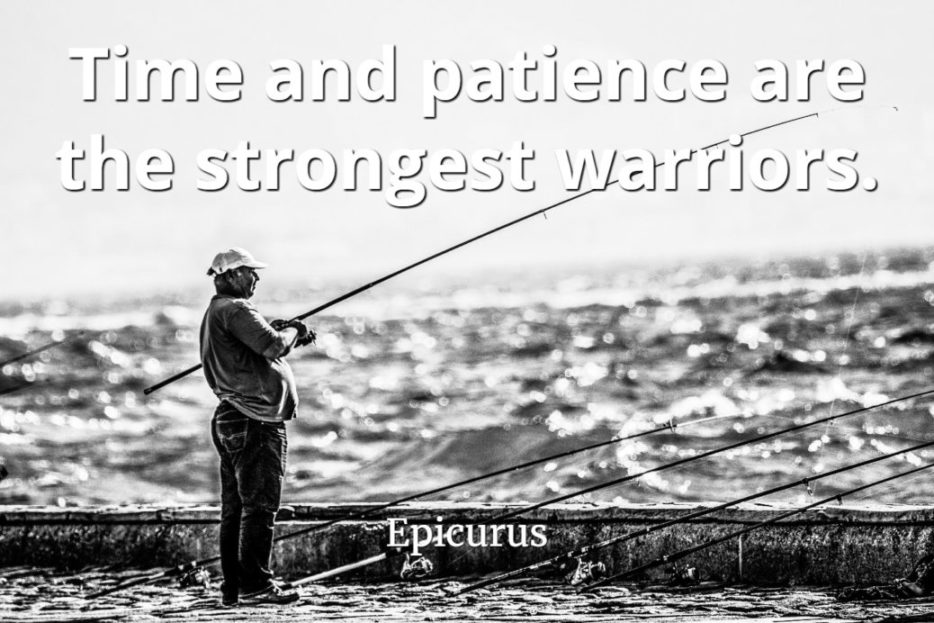 Epicurus quote Time and patience are the strongest warriors