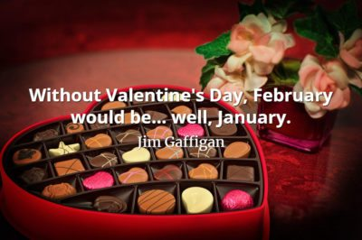 Jim Gaffigan quote Without Valentine's Day, February would be... well, January.