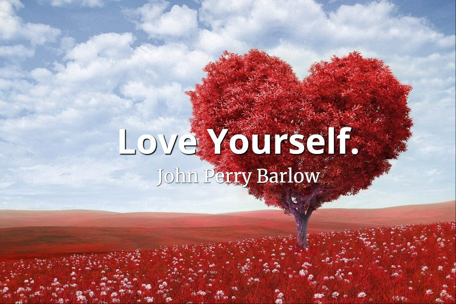 John Perry Barlow quote Love yourself