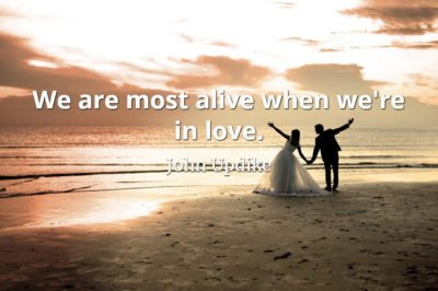 John Updike quote We are most alive when we're in love.