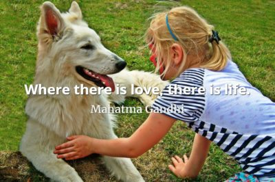 Mahatma Gandhi quote Where there is love, there is life.