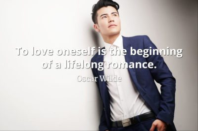 Oscar Wilde quote To love oneself is the beginning of a lifelong romance.