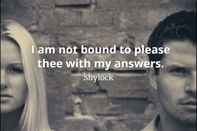 Shylock quote I am not bound to please thee with my answers.